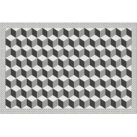 Vinyl Teppich MATTEO Fliesen 3 grau