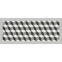 Vinyl Teppich MATTEO Fliesen 3 grau 50 x 120 cm