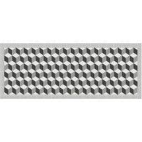 Vinyl Teppich MATTEO Fliesen 3 grau 70 x 180 cm