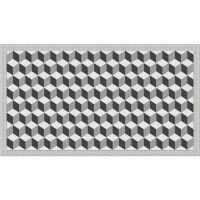 Vinyl Teppich MATTEO Fliesen 3 grau 90 x 160 cm