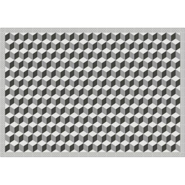 Vinyl Teppich MATTEO Fliesen 3 grau 140 x 200 cm