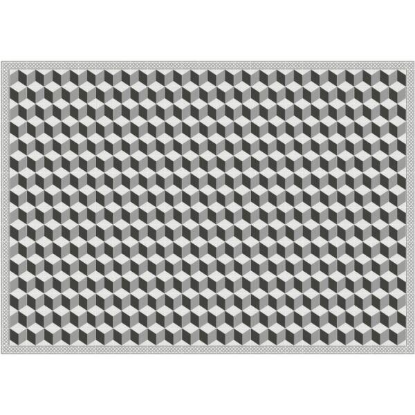 Vinyl Teppich MATTEO Fliesen 3 grau 170 x 240 cm