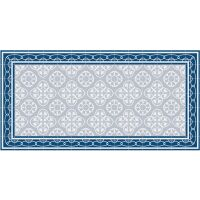 Vinyl Teppich MATTEO Fliesen 8 Blau 70 x 140 cm