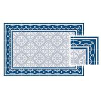 Vinyl Teppich MATTEO Fliesen 8 Blau 90 x 135 cm
