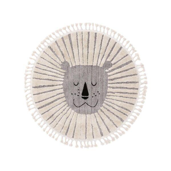 Kinderteppich Momo Grau ø 120 cm rund