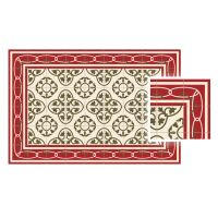 Vinyl Teppich MATTEO Fliesen 8 Rot