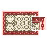 Vinyl Teppich MATTEO Fliesen 8 Rot 60 x 90 cm