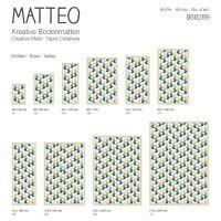 Vinyl Teppich MATTEO Fliesen 3 bunt