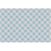 Vinyl Teppich MATTEO Leinen 5 blau