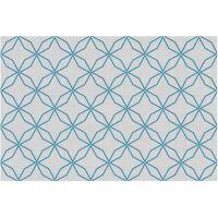 Vinyl Teppich MATTEO Leinen 5 blau 60 x 90 cm