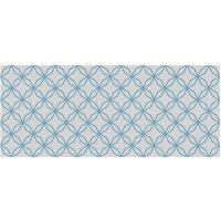 Vinyl Teppich MATTEO Leinen 5 blau 50 x 120 cm