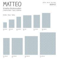 Vinyl Teppich MATTEO Leinen 5 blau 70 x 140 cm