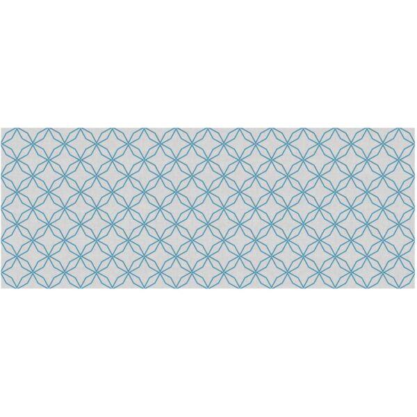 Vinyl Teppich MATTEO Leinen 5 blau 70 x 180 cm
