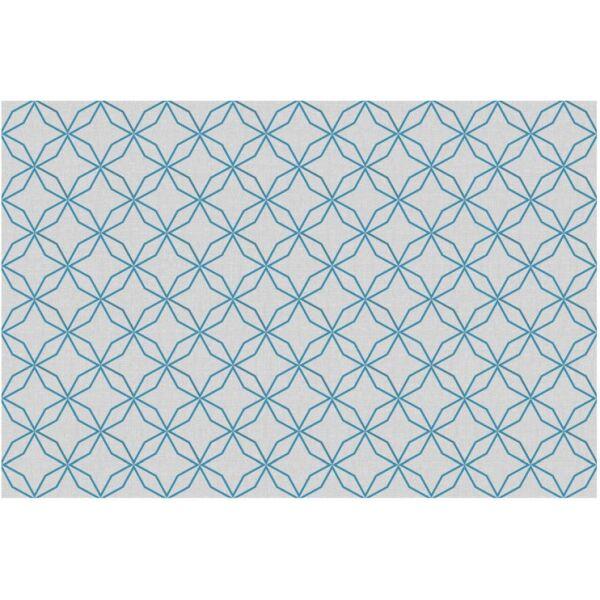 Vinyl Teppich MATTEO Leinen 5 blau 90 x 135 cm