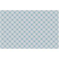 Vinyl Teppich MATTEO Leinen 5 blau 118 x 180 cm