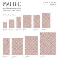 Vinyl Teppich MATTEO Leinen 7 rot 60 x 90 cm
