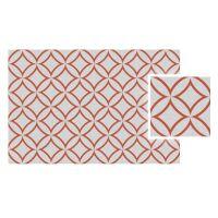 Vinyl Teppich MATTEO Leinen 7 rot 70 x 140 cm