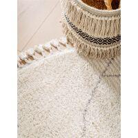 Teppich rund Bosse Cream ø 150 cm rund