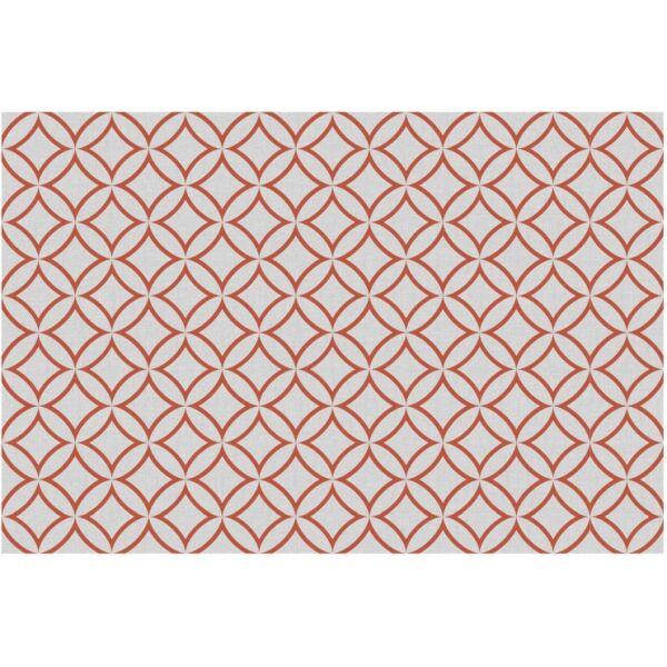 Vinyl Teppich MATTEO Leinen 7 rot 90 x 135 cm