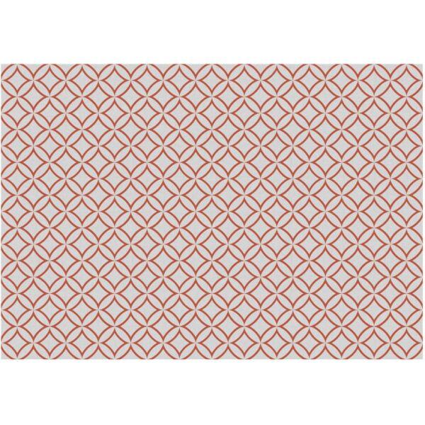 Vinyl Teppich MATTEO Leinen 7 rot 140 x 200 cm
