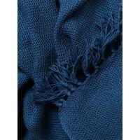Baumwolldecke Ezra Blau 125x150 cm