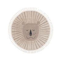 Kinderteppich Momo Beige ø 120 cm rund