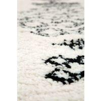 Teppich SORA Berber-Muster Creme/schwarz