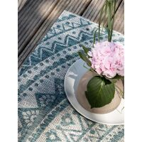 In- & Outdoor-Teppich Cleo Beige/Blau