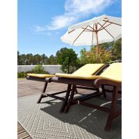 In- & Outdoor-Teppich Naoto Grau 160x230 cm