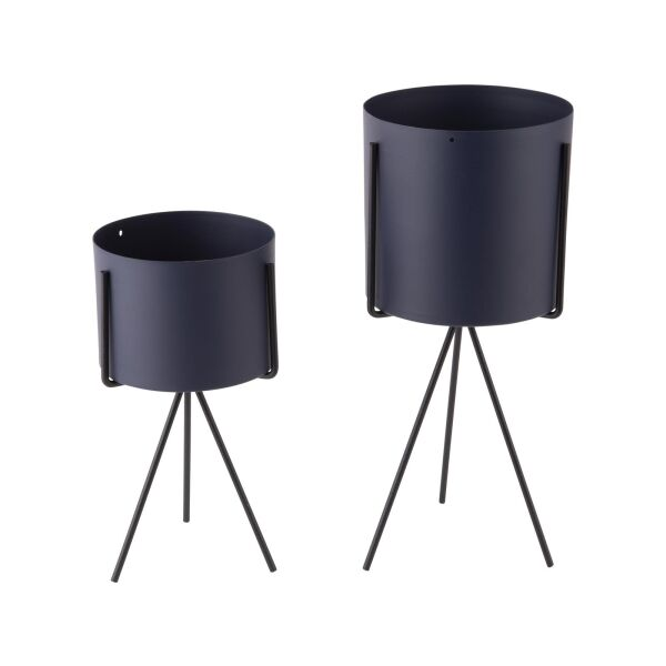 Pflanzentopf-Set Pedestal Night Blue