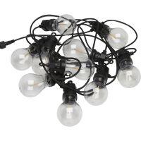 Lichterkette GLOW 10 Glühb. 8,7 meter schwarz