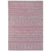 In- & Outdoor-Teppich Cleo Pink Ethno-Muster