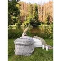 In- & Outdoor Pouf Toni Grau 45x45x45 cm