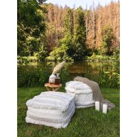 In- & Outdoor Pouf Toni Ivory 50x50x25 cm