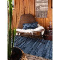In- & Outdoor Kissenbezug Toni Blau 30x50 cm