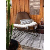 In- & Outdoor Kissenbezug Toni Grau 30x50 cm