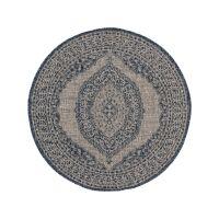 In- & Outdoor-Teppich rund Cleo Blau ø 150 cm...