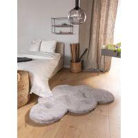 Kinderteppich Dave Wolke Grau 80x120 cm