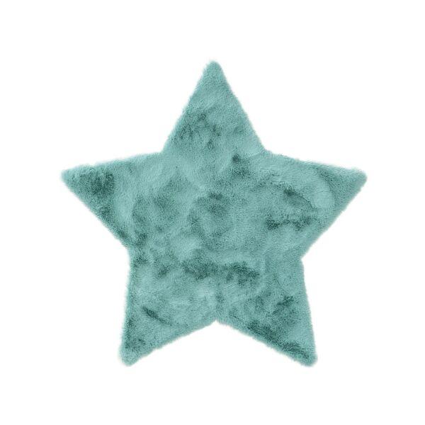 Kinderteppich Dave Stern Blau 100x100 cm