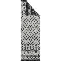Waschbarer Wendeteppich Vigo Beige/Schwarz 80x240 cm