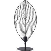 Tischlampe ELM Blatt aus Metall schwarz 58 cm