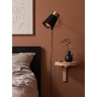 Wandlampe LUNA schwarz/Messing