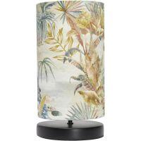 Kleine Tischlampe mit Stoffschirm Exotic