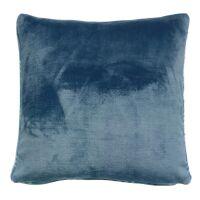 Kissen LUBA Karomuster Tintenblau 45 x 45