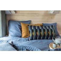 Tagesdecke Stonewash SWAMI 240x260 cm Vintage Blau