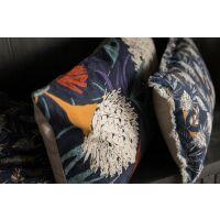 Kissen NIKI bedruckt Tintenblau 65 x 40