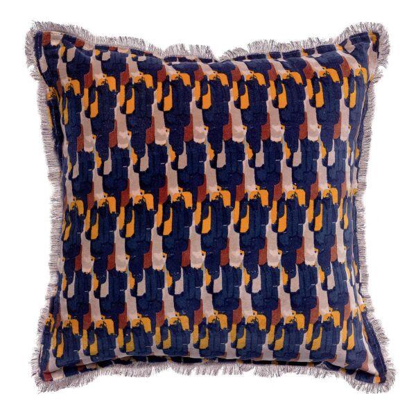 Kissen TAHIS Velours Tintenblau 45x45 cm