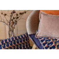Plaid TAHIS Velours Tintenblau 135x200 cm