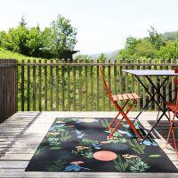 Teppich BLOOM In- und Outdoor schwarz