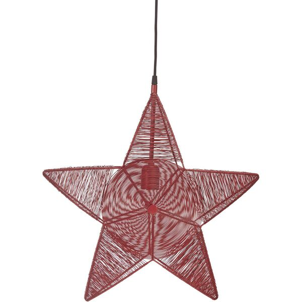 Weihnachtsstern RIGEL Metall rot Ø50 cm